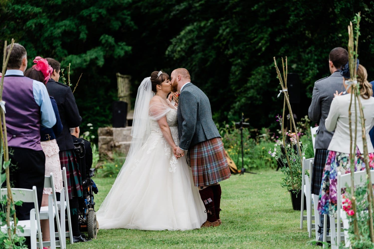 Aberdeenshire, Logie Country House, Outdoor Wedding, Wedding Photography